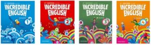 Image of children's textbooks used at Richy's English Conversation School